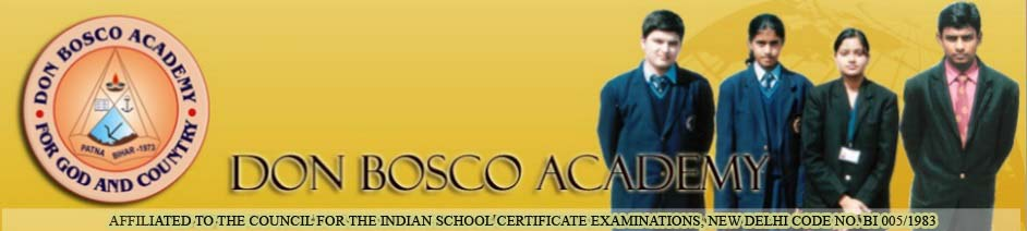 Welcome to Don Bosco Academy, Patna, India.